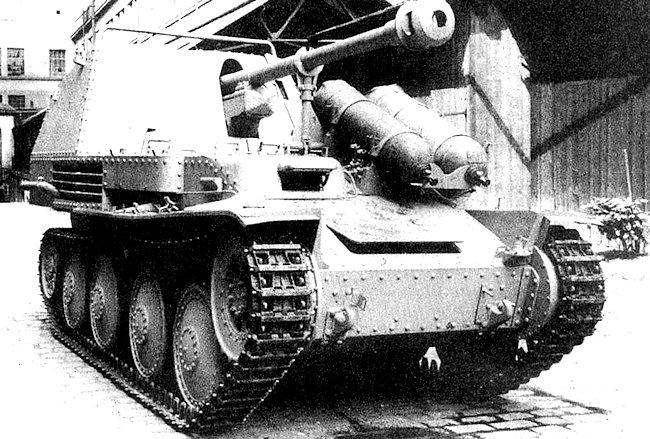 Fahrschulepanzerjäger 38(t) Ausf. M Marder III Holzgasantrieb