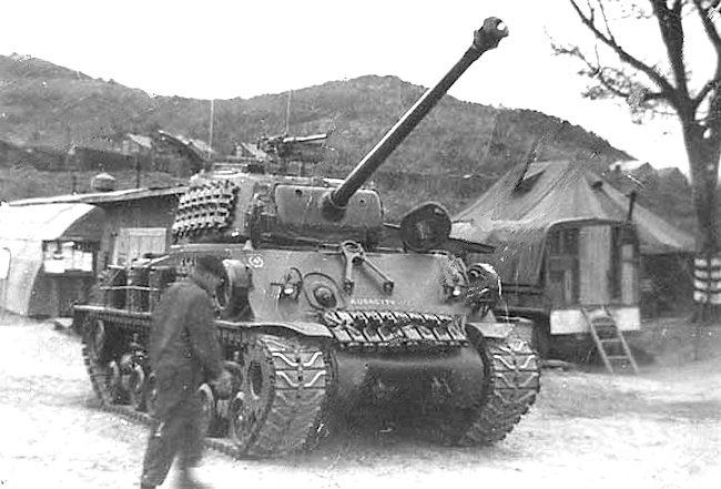 Canadian M4A3(76)W HVSS Easy 8 Sherman Tank in Korea