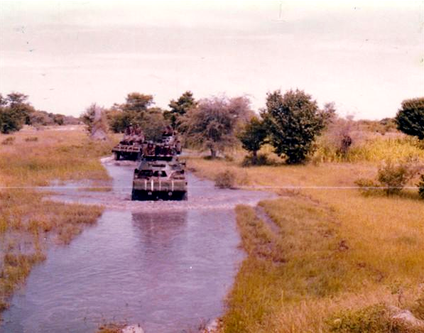 South African convoy in Namibia