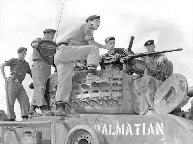 Royal Canadian Dragoon's D Squadron M4A3(76)W HVSS Sherman tank called 'Dalmatian' in Korea
