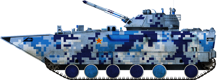ZBD 05 light tank in marine digital camouflage