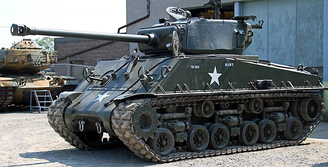 Ontario Regiment Museum M4A2(76)W with HVSS Sherman Tank