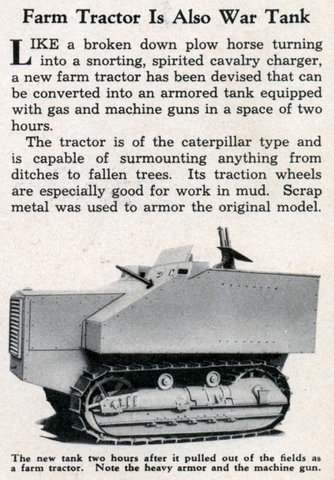 1935 advertisement for the Disston Tractor Tank