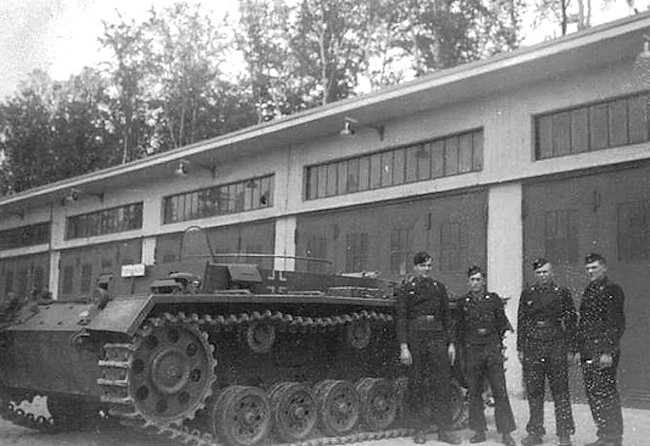 This Fahrschulpanzer III was powered by gasoline (petrol). This photo was taken early on in the war.