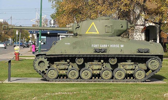 Fort Garry Horse (Militia) A Squadron Sherman tank