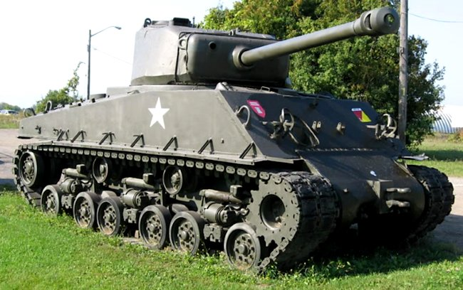 Ontario RCAC Regiment Museum M4A2(76)W with HVSS Sherman Tank serial number 65240
