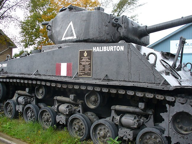 M4A2(76)W with HVSS Sherman Tank in Haliburton Canada