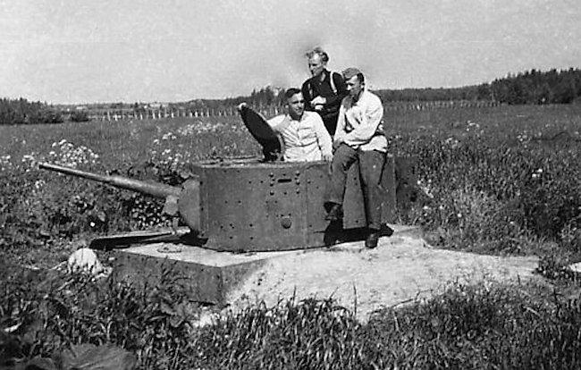 T-46 tank turret bunker