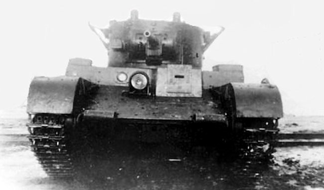 A rare clear image of the T-46 tank