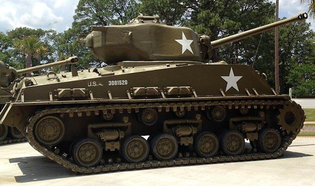 Korean War Veteran M4A3(76)W HVSS Fort Jackson, South Carolina, USA