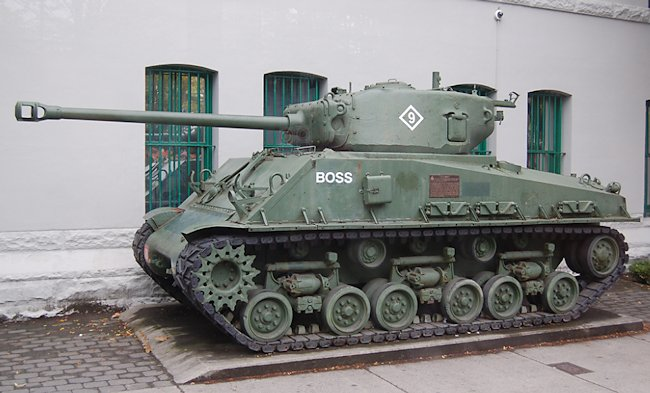M4A2(76)W with HVSS Sherman Tank in Vancouver, Canada