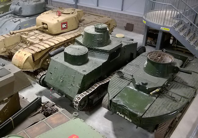 Vickers Amphibious Light Tank A4E3 (L1E3) in the Tank Museum Vehicle Conservation Hall at Bovington