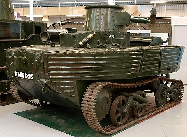 Vickers Amphibious Light Tank A4E3 (L1E3) at The Tank Museum Bovington England