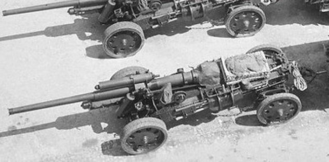 German Army 10.5 cm schwere Kanone 18 (10.5 cm sK 18) was a field gun used by Germans in WW2.