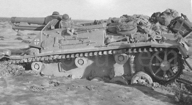 15 cm s.I.G. 33 B (Sfl.) auf Fahrgestell Pz.Kpfw. III Ausf. H SPG loaded with kit