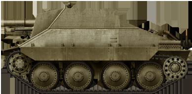 The prototype 15 cm Schweres Infanteriegeschütz 33/2 Selbstfahrlafette auf Jagdpanzer 38(t)