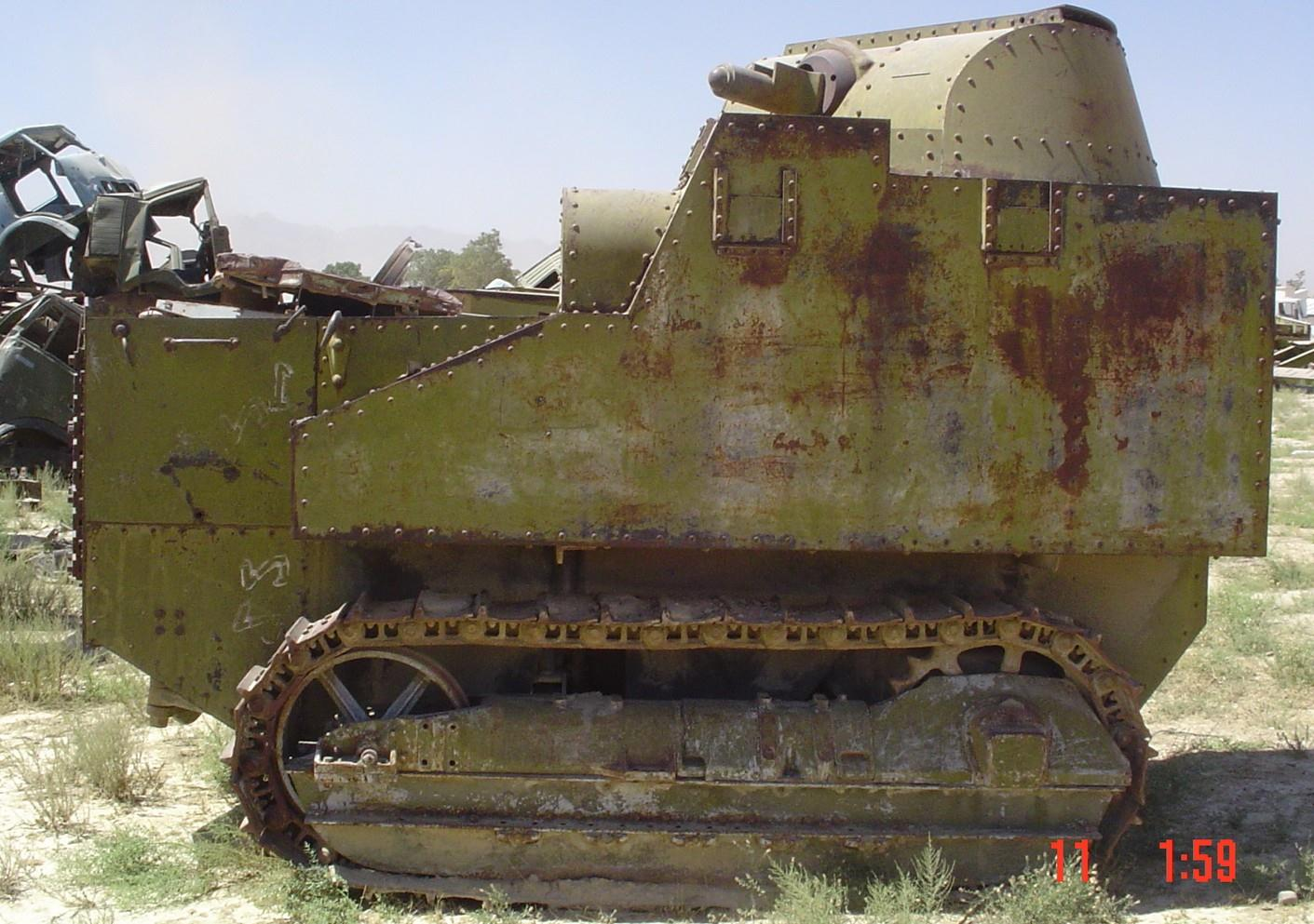 Short-track type Disston Tractor tank, circa 2011