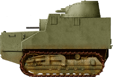Rendition of an Afghan Disston Tractor Tank circa WW2.