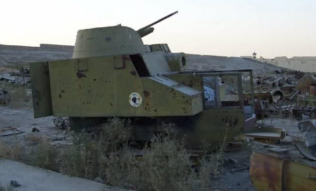 Disston Tractor Tank, believed to be at a garrison near Darul Aman Palace in southern Kabul circa 2006