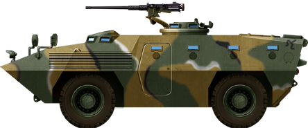 Illustration of the KM900 APC, 1980s