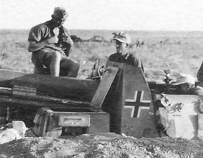 Driver's escape hatch on the 15 cm sIG 33 auf Fahrgestell Panzerkampfwagen II (Sf)
