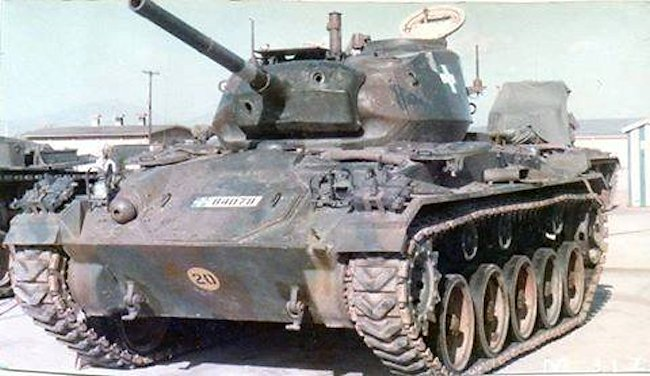 Greek Army M24 Chaffee Light Tank