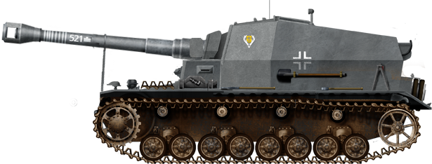 The Dicker Max that fought with Panzerjaeger-Abteilung 521