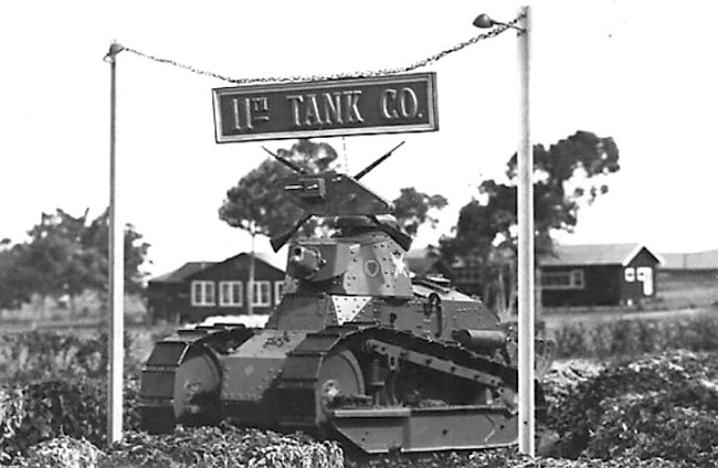 M1917 11th Tank Company in Hawaii, circa 1938.