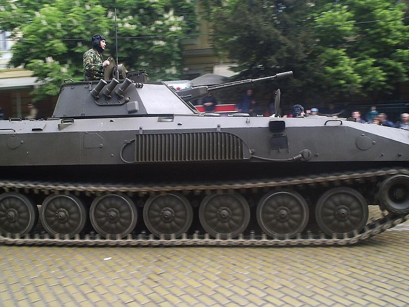 BMP-23 during a parade