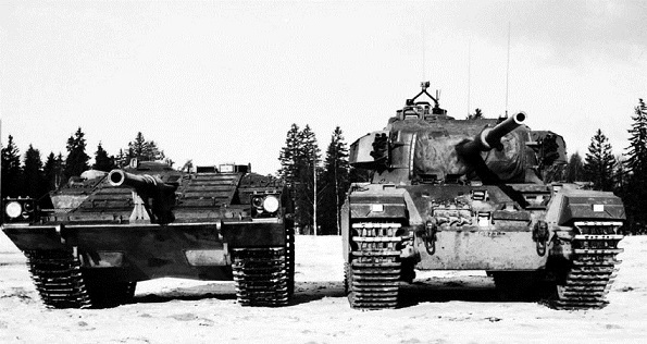 Strv 103 and a Centurion
