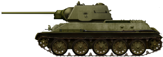 T-34 Exterminator model 1943. This prototype was sent to the front in August 1943, but never saw action due to the 85 mm (3.35 in) armed T-34/85 coming into service.