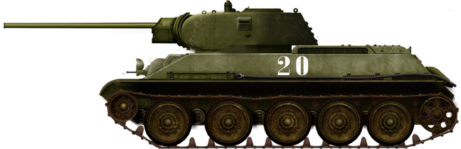 Regular T-34 Exterminator in 1941, commanded by Major Mikhail A. Lukin