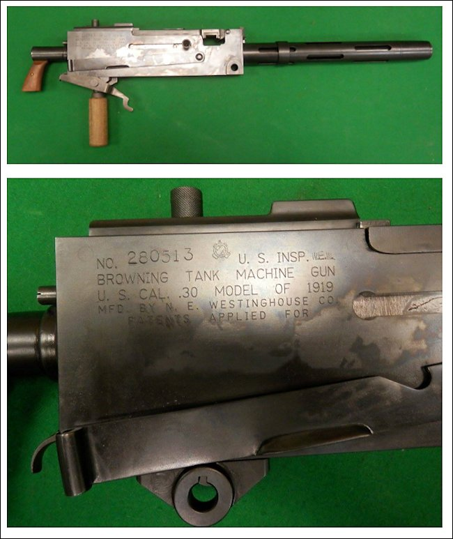 .30 Cal M1919 Browning Tank Machine Gun