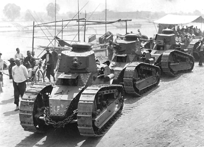 US Marine Corps M1917 tanks in China