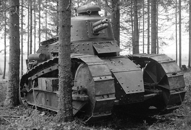 Finnish Army Renault FT tank, war games of summer 1939