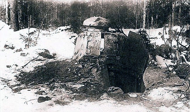 When the Soviet troops overran the Finnish defensive lines they just left the dug in bunker Renault FT tanks in place as they were too obsolete to be of interest.