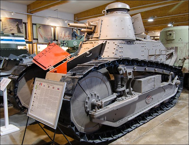 Finnish Army Renault FT Tank at the Armour Museum, Panssarimuseo in Parola, Finland