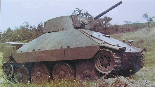 3rd Prototype PM-1 flame thrower tank with different turret and gun