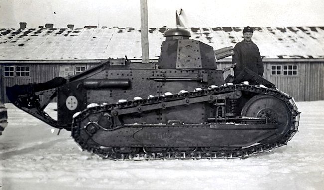 Finnish Army Renault FT-17 armed with 37 mm Puteaux-gun Hämeenlinna Finland 1920s-1930s