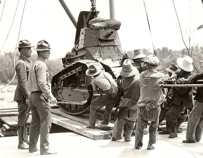 US m1917 tanks in China