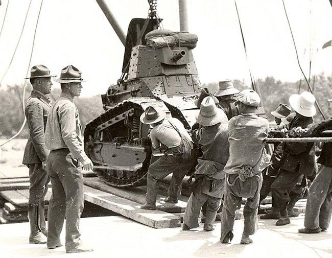 US m1917 tanks in China