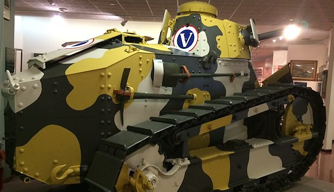 Preserved US Army WW1 M1917 6-ton light tank at the Virginia War Museum, in America.