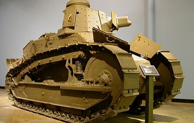 M1917 tank fitted with M1916 37mm cannons. These new tanks could carry 238 rounds.