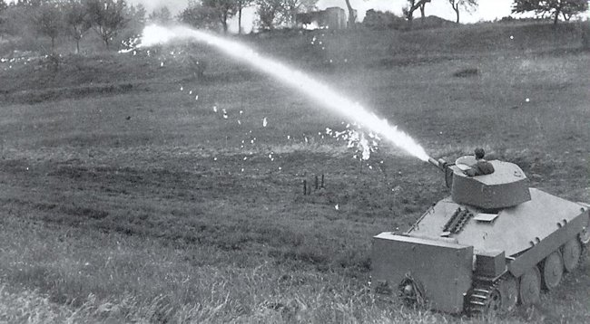 PM1 flame thrower tank