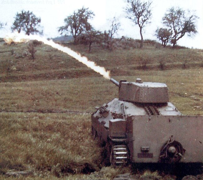Flame tests of the PM-1 flame thrower tank