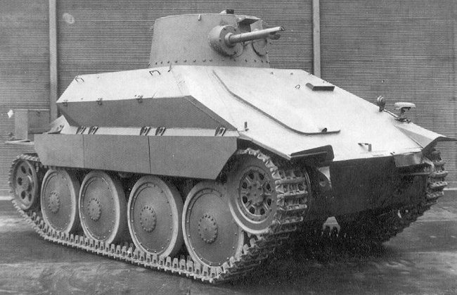 Right side view of the PM-1 Flame Tank