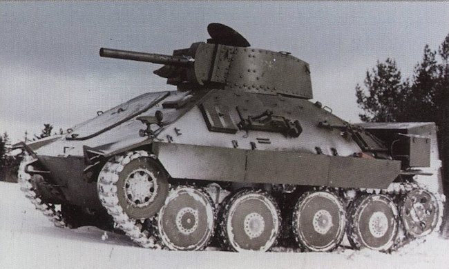 Third PM-1 flame tank prototype with a different turret and flame thrower equipment taking part in trials in the snow 16th February 1955