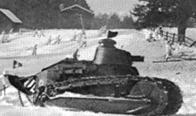 The Renault FT could cope with the winter snows of Finland.