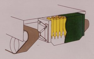 The drawer ammo compartment of the Strv 2000