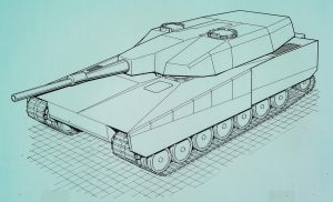 The Strv 2000 L140 design.